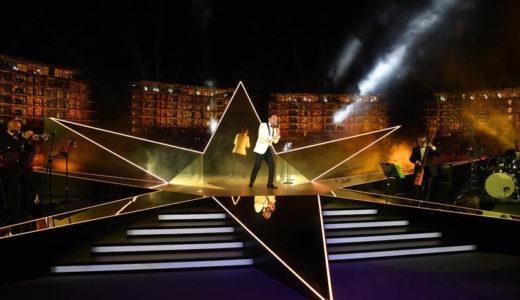 Matteo Brancaleoni all'Opening Gala del Bulgari Resort di Dubai